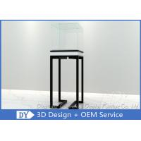 Quality Simple Glass Jewellery Shop Cabinets / Jewelry Display Cabinets Cream Coating for sale