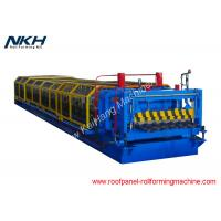 China 34mm Height Roof Tile Roll Forming Machine Blue Metal Sheet Making Machine on sale