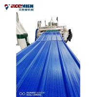 China PVC Roofing Sheet Plant Roof Tile Machine , Roof Roll Forming Machine ASA Resin on sale