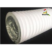 Quality Air Conditioner System Silver Insulated Flexible Round Air Duct , 4 inch Aluminum Duct Pipe for sale