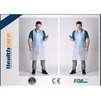 China FDA CE Disposable Patient Bibs And Underpads Medical Colored LDPE HDPE Apron on sale