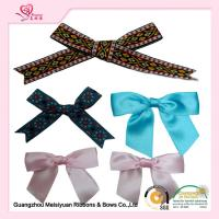 Personalized Pre tied Ribbon Bows For Greeting Card , premade christmas bows 7cm Manufactures