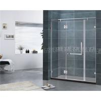 Customized 8MM Tempered Glass Shower Door 304 Stainless Steel Swing Hinge Bathroom Manufactures
