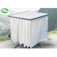 White 6 Bags F9 Bag Filter Non Woven Fabric Material For Painting Industry Manufactures