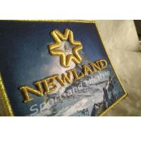3D Raised Logo Woven Custom Embroidered Patches Sew On Cloth Badges Manufactures
