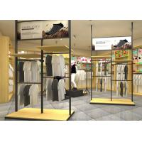 Adjustable Metal Retail Clothing Racks Black Color For Retail Shop Display Manufactures