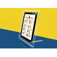 Table Stand Ultra Thin Lightbox Menu Display , A4 Size Acrylic Illuminated Menu Box Manufactures
