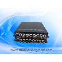 8CH analog video fiber transmitter and receiver with black aluminum case for cctv surveillance system Manufactures