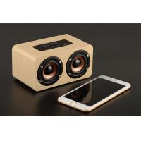 Mini Wood Bluetooth Speaker Cabinet , 10W Portable Wireless Wooden Sound Box Manufactures