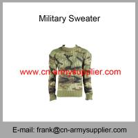 Wholesale Cheap China Army Green Camouflage Wool Acrylic Military Sweater Manufactures