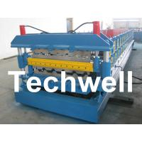 Automatic PLC Control Dual Level Roll Forming Machine With Manual / Automatic Decoiler Manufactures