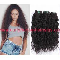 Buy cheap Customized Brazilian Curly Human Hair Weave for Black Women from wholesalers