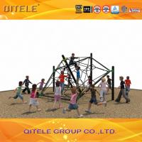 Quality Childrens Out Door Play Equipment Ropes With Black Galvanized Post , Star Shape for sale