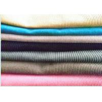 China White Color Yarn Dyed Corduroy Velvet Fabric For Pants , 100% Cotton on sale