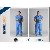 China Nonwoven Disposable Hospital Scrubs Protective Clothing For Operation Room on sale