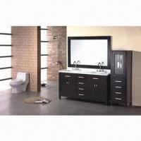 Classical Double Sink Wooden Bathroom Vanity, Various Colors are Available Manufactures
