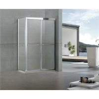 Rectangular Double Sliding Shower Screen with One Side Fixed Panel 304 Stainless Steel Manufactures