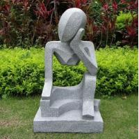 Professional Small Modern Abstract Stone Sculpture Hand Carved For Garden Manufactures