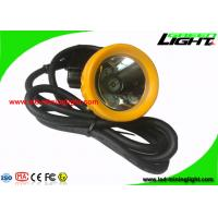 Buy cheap 6.6Ah Black Mining Cap Lights , 420g Miners Helmet Light  With 16 Hours Working Time from wholesalers