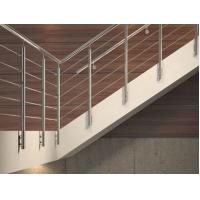 China Easy Install Stainless Steel Rod Railing Durable Security Rod Iron Stair Railing on sale