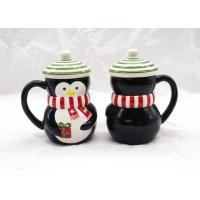 Christmas Black 3D Penguin Mug / 3D Coffee Cup Multi Functional With Lid Manufactures