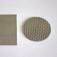 China Round Perforated Sintered Metal Filter Disc Cleanable With 1CM - 100CM Width on sale