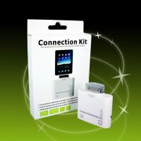 CE Rohs Ipad connection kit -2 in 1 Card Reader USB Apple Ipad Camera Connection Kit Manufactures