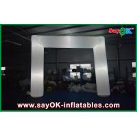 China White Oxford Cloth Giant Inflatable Cube Tent Inflatable Arch 6x3m on sale