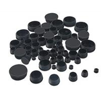 China Black Round Plastic Hole Plugs Caps Glide Insert End Caps Mixed Sizes on sale