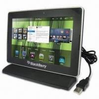 USB Hot-swap Synchronized and Charging Cradle for Blackberry Playbook, CE-/FCC-/RoHS-marked Manufactures