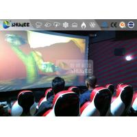 Red Luxury Seat 7d Cinema Equipment 7D Simulator System Metal Flat Screen Manufactures
