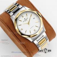 Quality Perfect Replica Patek Philippe White Index Dial Yellow Gold Bezel 2-Tone Oyster for sale