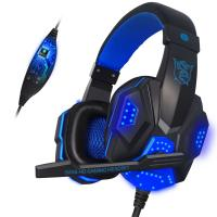 China Gaming Wired Gamer Sony Stereo Bluetooth Headset With Mic LED Light For Computer PC Gamer on sale