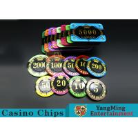 Difficult To Distort Authentic Casino Poker Chips , Crystal Dice Poker Chips  Manufactures