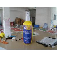Big Reusable Height Inflatable Advertising Bottle Shape Balloon,Custom Shaped Balloons Manufactures