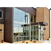 Single Slope Tapered Commercial Steel Frame Buildings With Large Glass Curtain Wall Manufactures