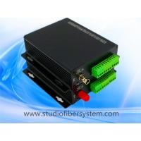 4CH analog audio fiber converter with Phoenix connectors for broadcast audio over SM fiber to 20~80KM Manufactures
