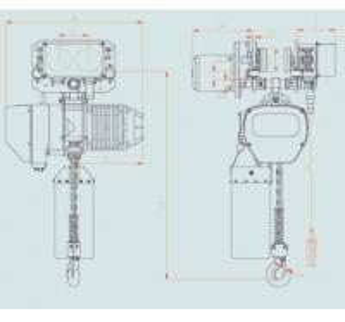 Pressing Alloy Electric Chain Hoist Motor Drive Trolley , Overhead