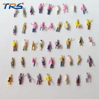 China 1/200  scale model train layout street passengers painted  figures 0.9cm for model Architectural material on sale