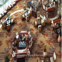 China Soft flower printed pattern wall to wall nylon hall carpet on sale