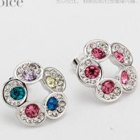 440810 Admiring flowers Earrings flower jewelery discount fashion jewelry wholesale  clothing distributor online shop