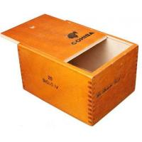 wooden cigar boxes 25pcs cigarette packaging plain type Manufactures