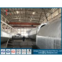 Hot Dip Galvanized Conical Tapered Steel Electric Pole With Climbing Ladder Manufactures