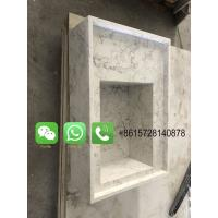 China Foshan Weimeisi Natural stone white polish marble restaurants and home worktop kitchen countertop with wash basin on sale