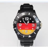 Custom National Flag Silicone Bracelet Watch 10atm Eco - Friendly Manufactures