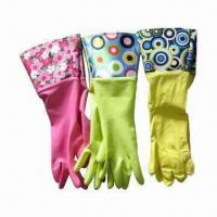 PVC Cuff Latex Gloves, Mainly for Household Cleaning Use Manufactures