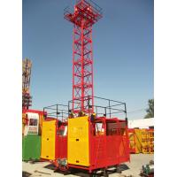 1 - 2 Ton Twin / Single Cage Industry Building Material Hoist by Manual Control SS100/100 Manufactures