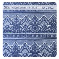 Easy Cleaning Navy Nylon Garment Lace Fabric Scalloped Lace Eyelash Fabric Manufactures