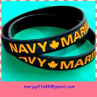 Top Quality Silicone Debossed Bands Custom Wristbands