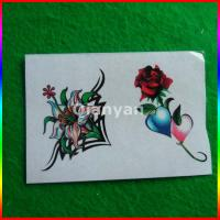 customize adult flower and butterfly tattoo with packing Manufactures